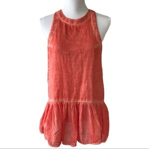 Free People Halter Style Tank Top Tunic Size XS
